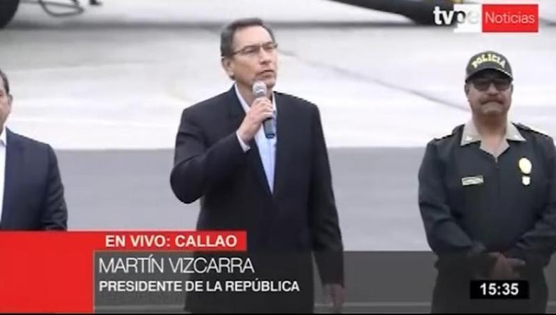 Martín Vizarra realizó anuncios