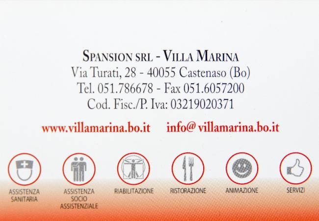 CASA DI RIPOSO VILLA MARINA  Via Turati 28  40055 Castenaso BO44506491146191  PagineBianche