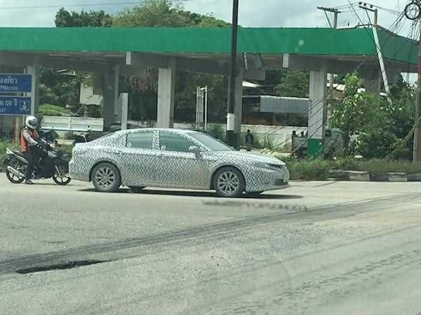 all new toyota camry philippines yaris trd limited 2019 in camouflage captured on thai roads spyshot of thailand from facebook users