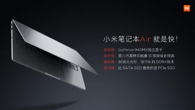 xiaomi mi notebook air 4g disponibilites