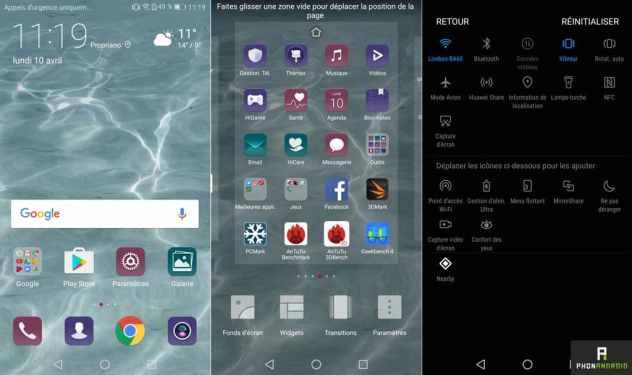test huawei p10 lite interface