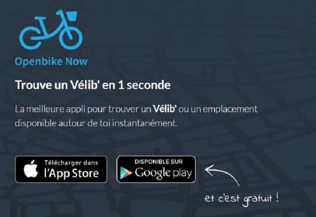 openbike now applications android vélo