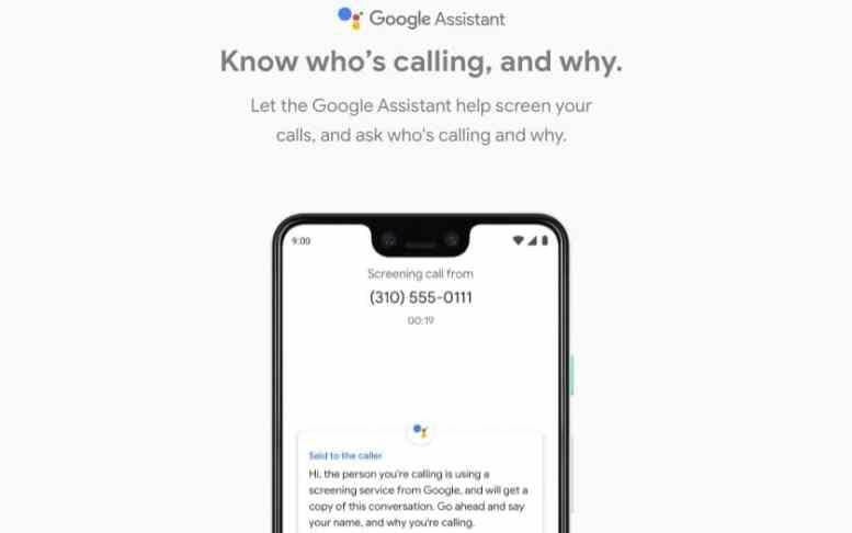 pixel 3 screen call