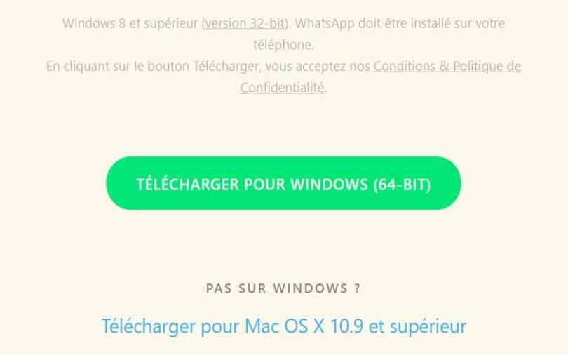 whatsapp pc telecharger