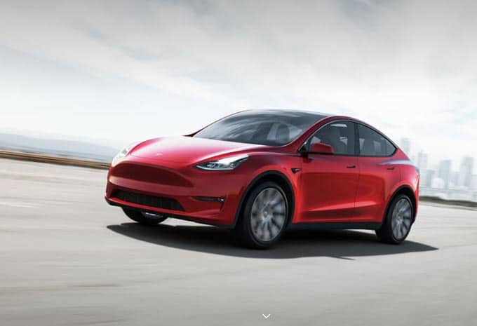 Tesla Model Y rouge