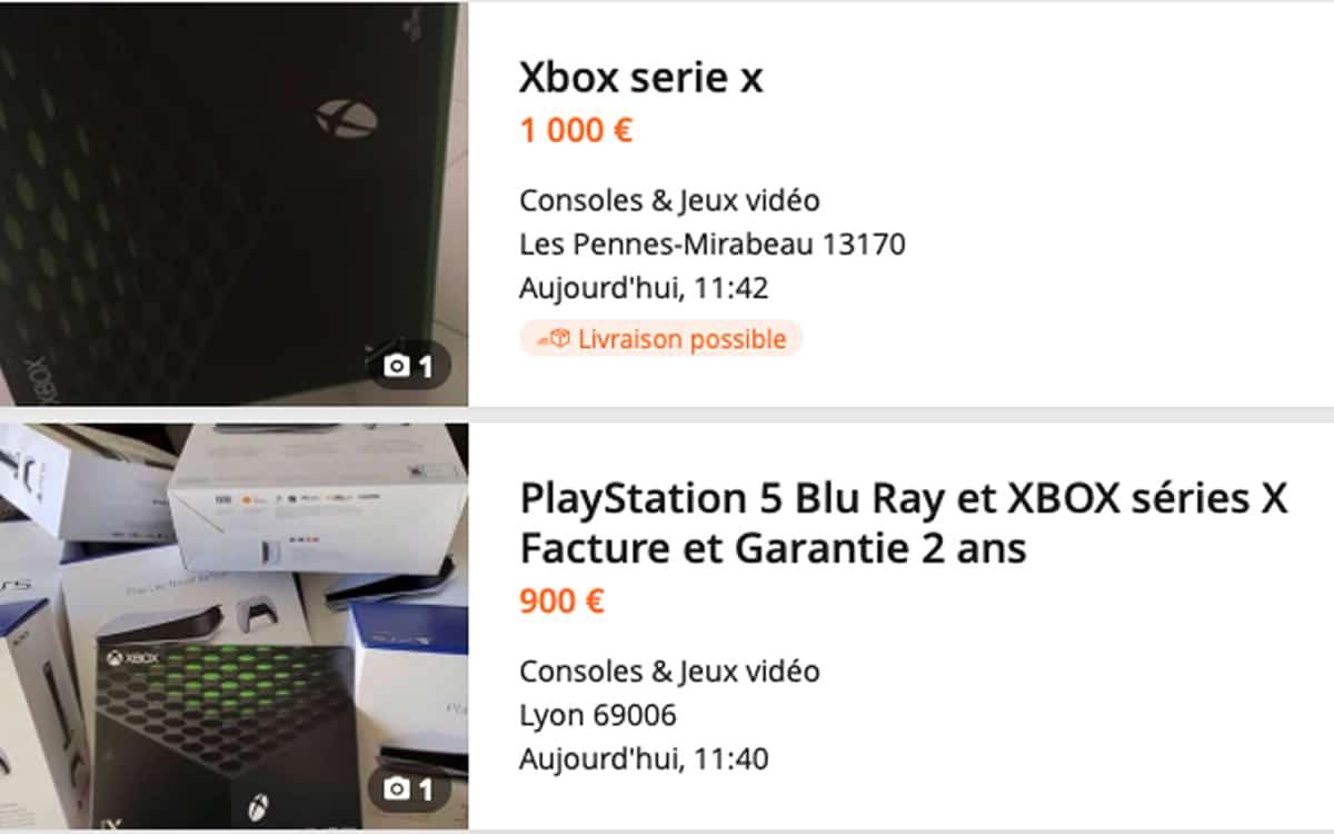 ps5 et xbox series x les prix s