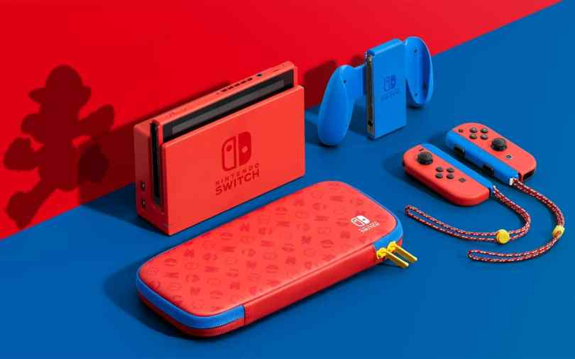 Nintendo Switch Mario rouge et bleu
