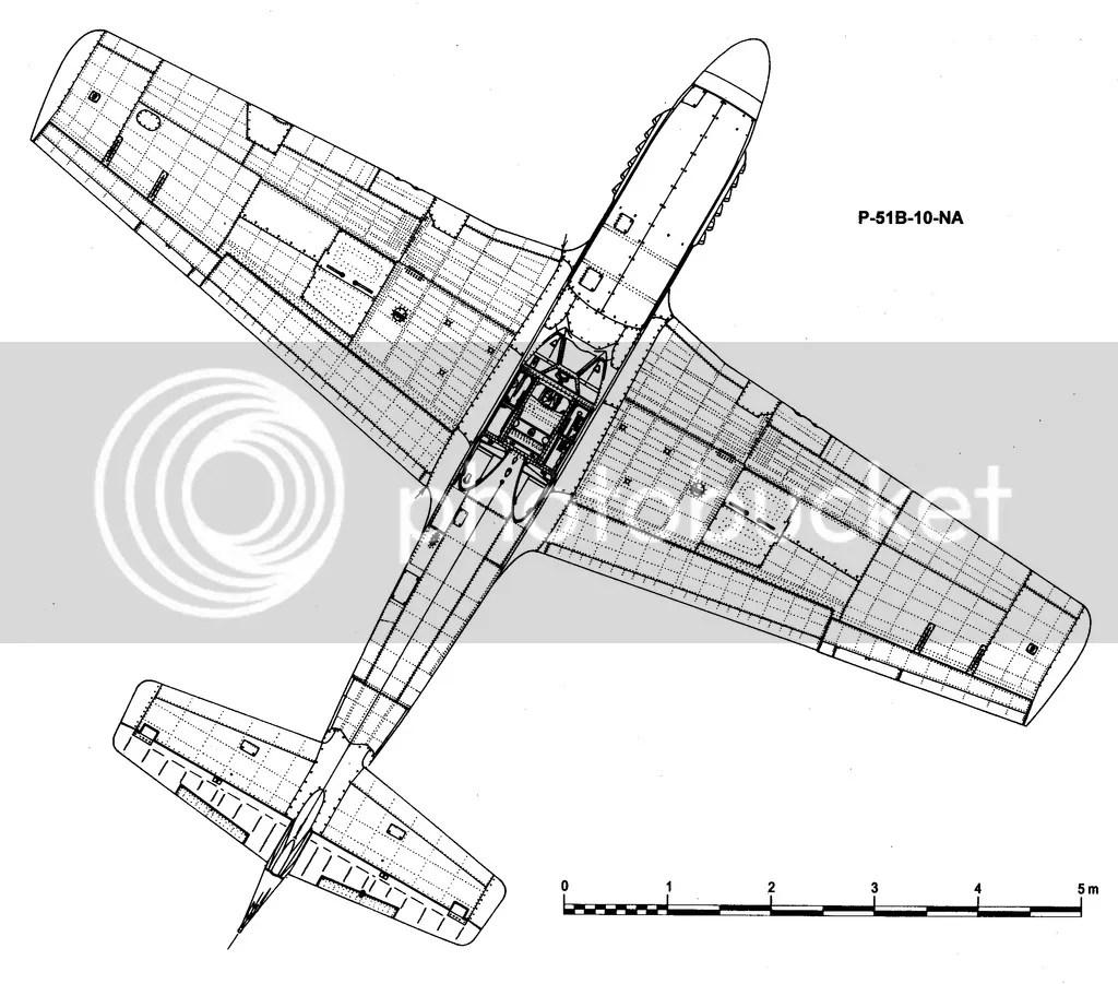 P 51b Scaled Diagram
