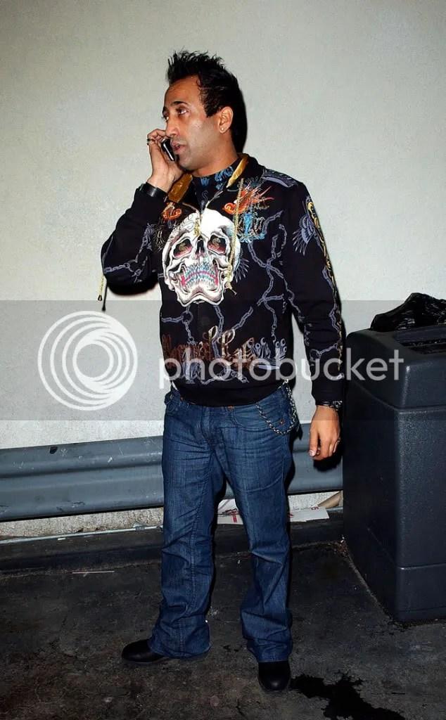 Adnan Ghalib wearing Ed Hardy