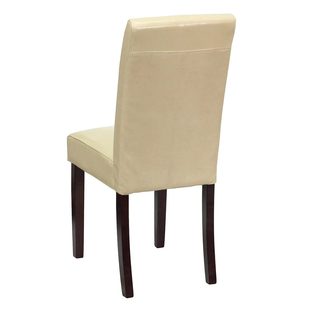 Ivory Dining Chairs Ivory Leather Upholstered Parsons Dining Side Chair Bt 350