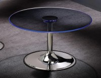 Transitioning 6 Color LED Coffee Cocktail Table with Glass ...