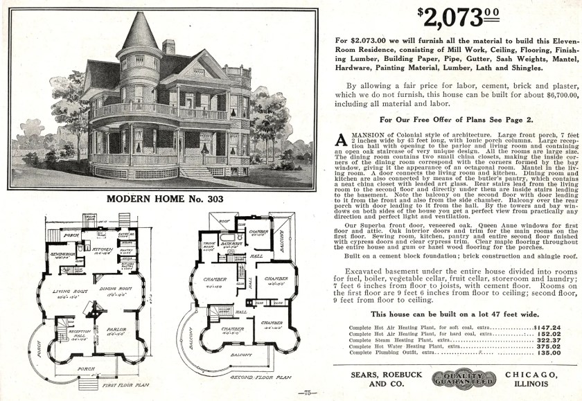 As you can see from the catalog page, this was quite a house!