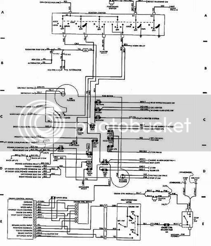 medium resolution of 89 xj ignition swith wiring diagram push button start