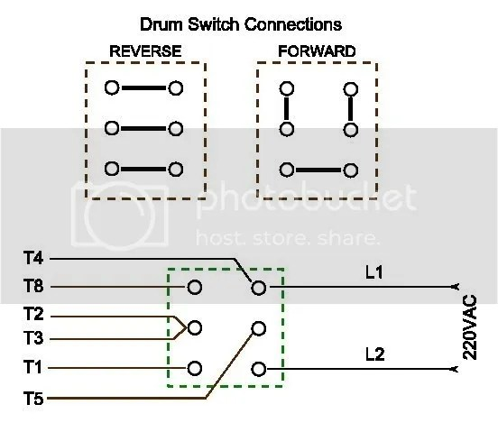 How Do I Wire Up My Drum Switch? (220V, Single Phase