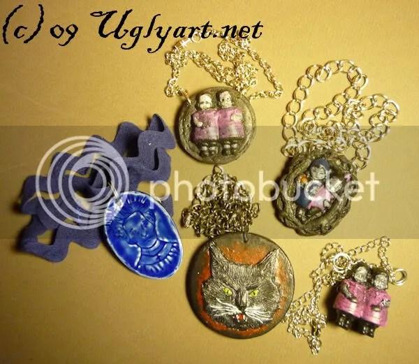 jewelry,etsy,gothic,twins,sideshow