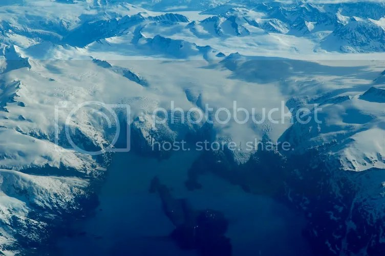 Aerial pictures of the Beloit and Blackstone glaciers calving into the bay in Alaska by Arun Shanbhag
