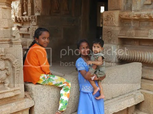 Kids at the Cave Temples of Badami pics by Arun Shanbhag
