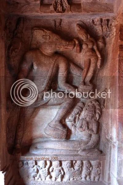 Vishnu as Varaha Murthy, Cave Temples of Badami