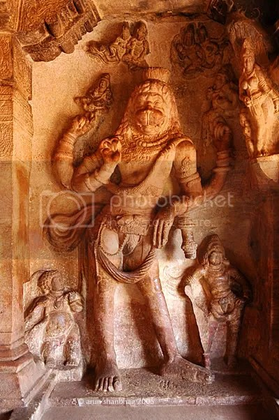 Vishnu as Narasimha Cave 3 of the Cave Temples of Badami