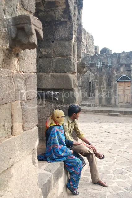 Young couple at the Daulatabad Fort, India Arun Shanbhag