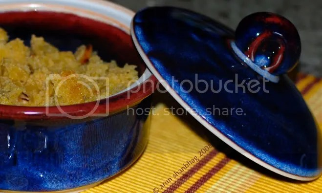 Shira cream of wheat pudding Soji halwa Arun Shanbhag
