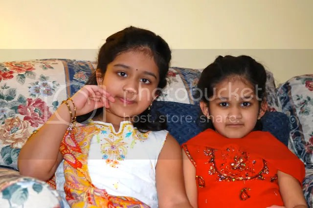 pics of Meghana and Navya kids by Arun Shanbhag