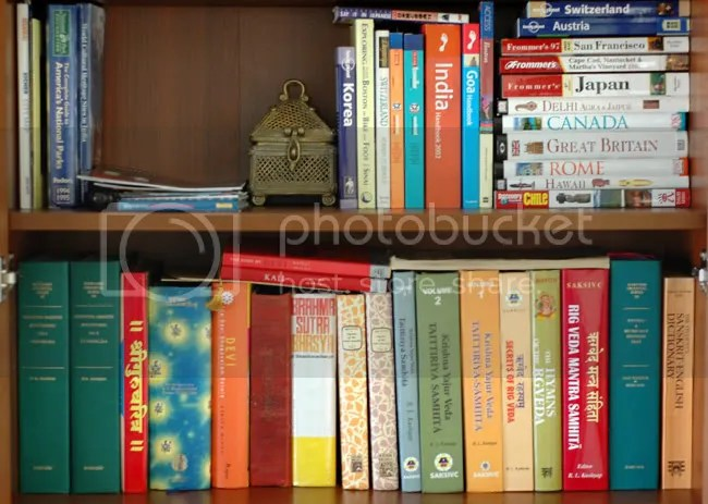 Arun Shanbhag's book shelves in Boston