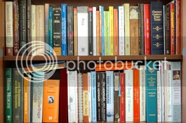 Arun Shanbhag's book shelves in Boston