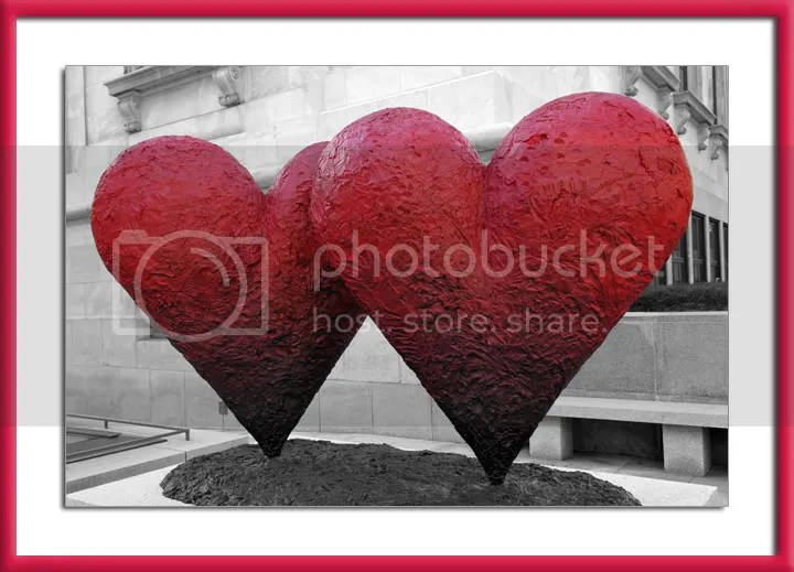 Valentine's Day hearts in Montreal pic by Arun Shanbhag