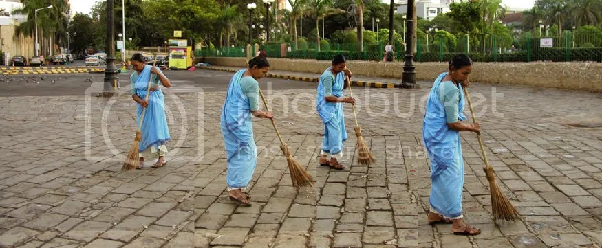 Lady Sweeper Gateway of India Mumbai by Arun Shanbhag