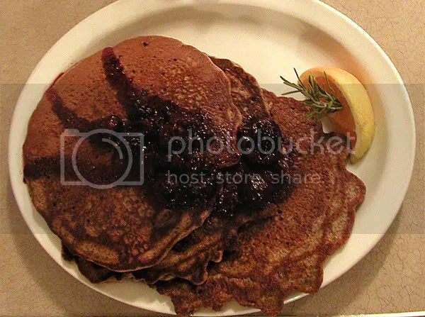 Picture of Buckwheat Pancakes with mixed Berry Preserves, Diner in Calgary Canada by Arun Shanbhag