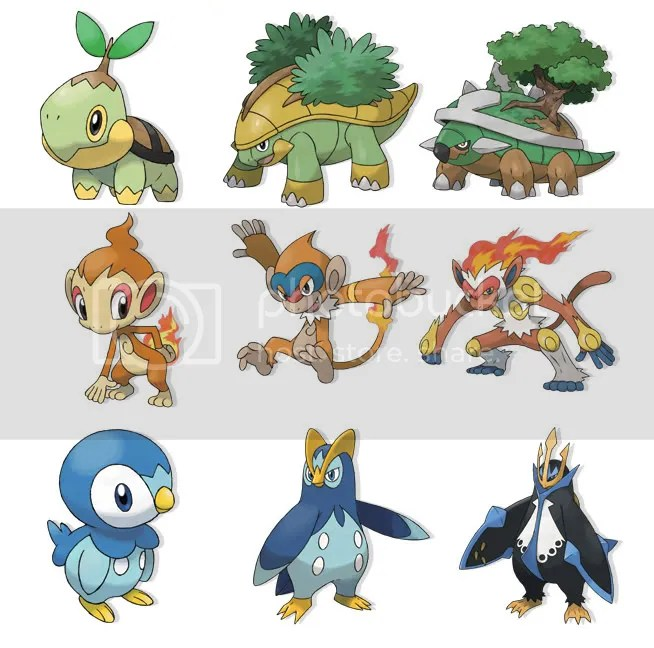SEPTAPUS: English names for Pokemon Diamond/Pearl's starters revealed