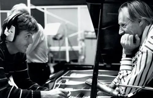 George Martin and Paul