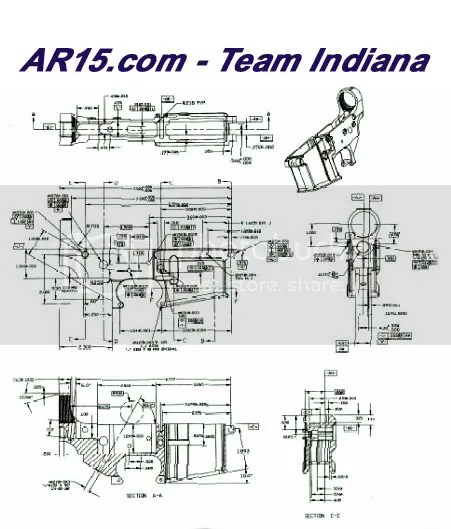 M16 Trigger Blueprints Dimensions