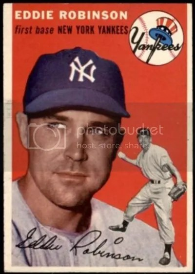 Card of the Day: Eddie Robinson 1954 Topps #62