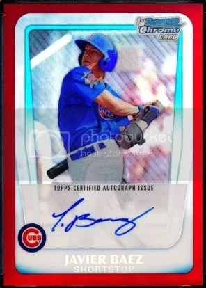 Card Of The Day Javier Baez 2011 Bowman Chrome Red Refractor Auto