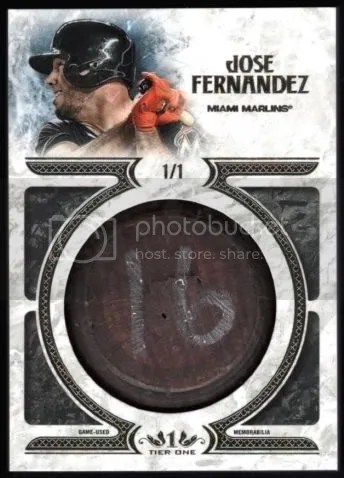 Card of the Day: Jose Fernandez 2016 Topps Tier One Game-Used Bat Knob
