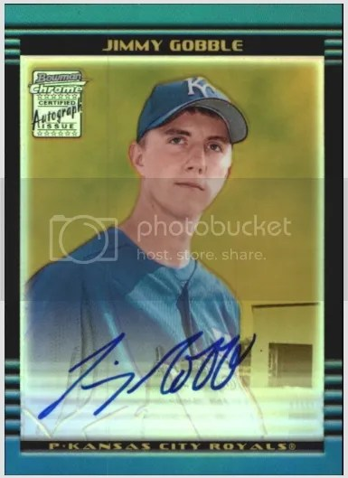 Card of the Day: Jimmy Gobble 2002 Bowman Chrome Gold Refractor Auto