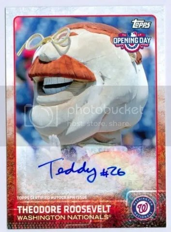 Card of the Day: Theodore Roosevelt 2015 Topps Opening Day Auto