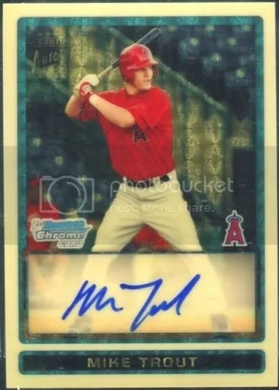 Card of the Day: Mike Trout 2009 Bowman Draft Picks & Prospects Chrome Superfractor Auto