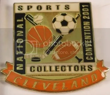 """Pin-Up"" of the Week: 2001 National Sports Collectors Convention – Cleveland Pin"