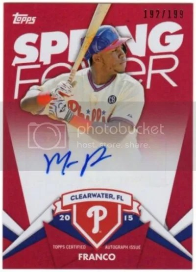 Card of the Day: Maikel Franco 2015 Topps Spring Fever Auto