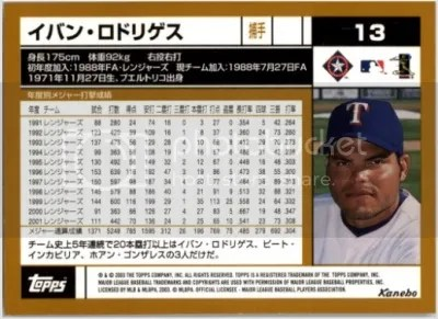 Flashback Product of the Week: 2003 Topps Kanebo Series I & II