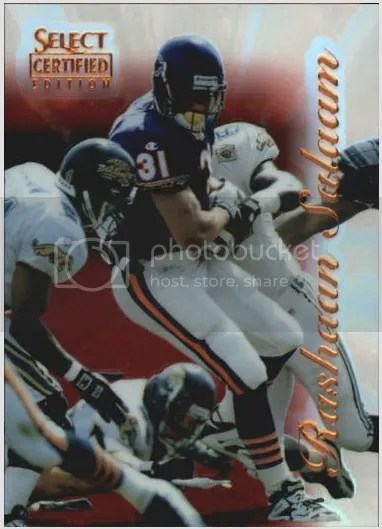 Card of the Day: Rashaan Salaam 1996 Select Certified Mirror Red Premium Stock #78