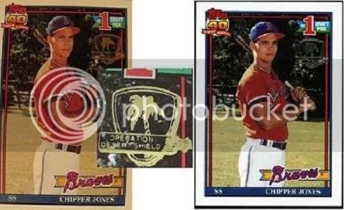 How To Spot Fake 1991 Topps Desert Shield Cards (2/2)