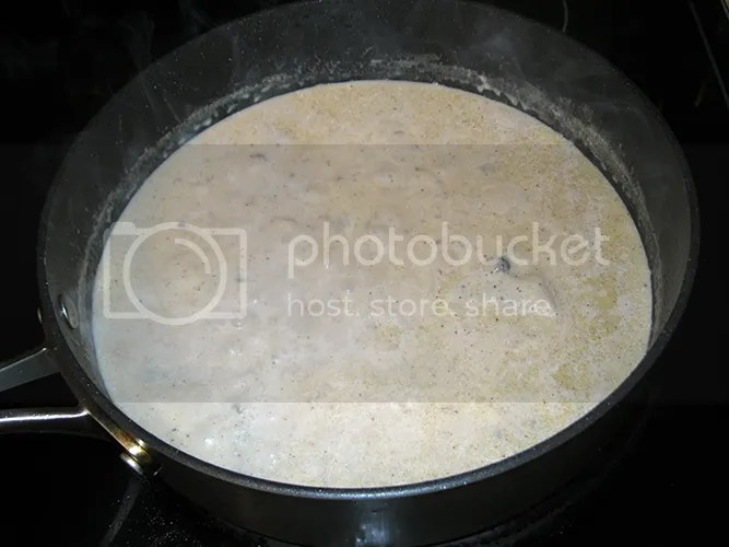 Mushroom Soup with milk added