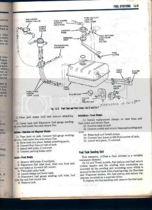 small resolution of cj7 fuel system diagram jeepforum com rh jeepforum com chevy fuel system diagram oil filter diagram