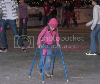 Maddie ice skating