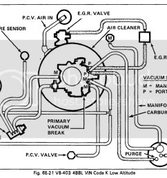 here s the brake booster hose setup you should have a steel pipe that screws into a fitting in the rear of the carb then the hoses and that filter thing  [ 1144 x 733 Pixel ]