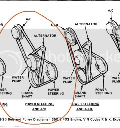 routing as i have although the illustration isn t real clear the a c belt does go over the water pump pulley and the a c belt from the parts store  [ 1469 x 941 Pixel ]